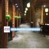 复古风格青石板餐厅地面铺贴效果图片 青石板生产厂家至美板岩