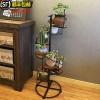 北欧铁艺多层阶梯花架子客厅室内装饰花盆架绿萝多肉植物架落地式